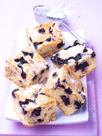 Blueberry Vanilla Blondies
